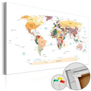 Ljuddämpande anslagstavla - World Map - SilentSwede