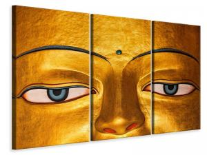 Ljudabsorberande 3 delad tavla - The Eyes Of Buddha - SilentSwede
