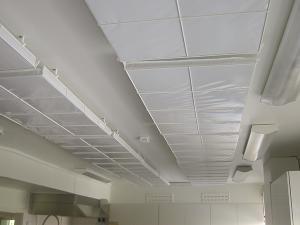 ljudabsorbent till tak, hygienisk, trådkorg