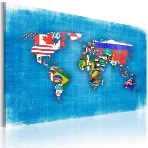 Ljuddämpande & ljudabsorberande tavla - Flags of the World - SilentSwede