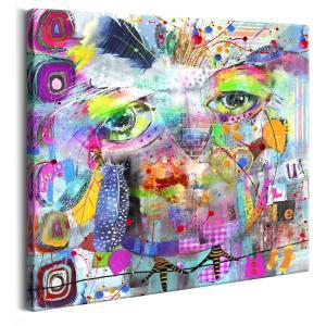 Ljuddämpande tavla - Colourful Owl - SilentSwede