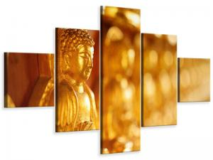 Ljudabsorberande 5 delad tavla-Buddha - SilentSwede