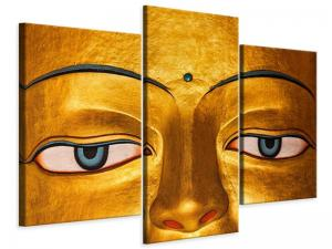 Ljudabsorberande modern 3 delad tavla - The Eyes Of Buddha - SilentSwede