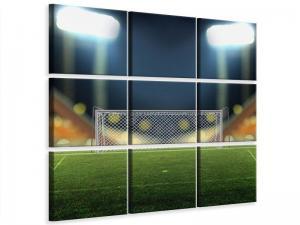 Ljudabsorberande 9 delad tavla - The Soccer Goal - SilentSwede