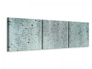Ljudabsorberande panorama 3 delad tavla - Concrete Gray - SilentSwede