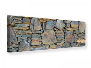 Ljudabsorberande panorama tavla - Natural Stone Wall - SilentSwede