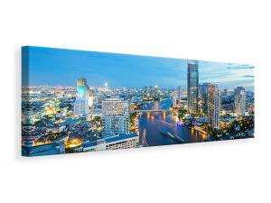 Ljuddämpande tavla - Skyline Bangkok At Dusk - SilentSwede
