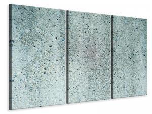 Ljudabsorberande 3 delad tavla - Concrete Gray - SilentSwede
