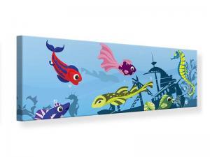 Ljudabsorberande panorama tavla - Fish In Water - SilentSwede
