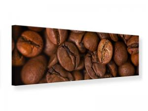 Ljudabsorberande panorama tavla - Close Up Coffee Beans - SilentSwede