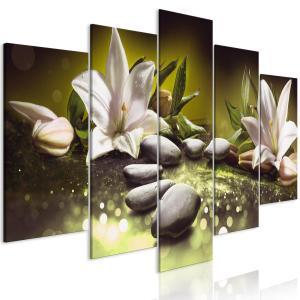 Ljuddämpande tavla - Lilies and Stones Green - SilentSwede