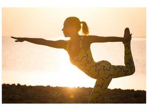 Ljudabsorberande tavla-Yoga At Sunset - SilentSwede