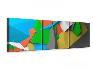 Ljuddämpande tavla - 3D Geometric Figures - SilentSwede