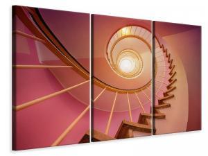 Ljuddämpande tavla - Spiral staircase in pink - SilentSwede