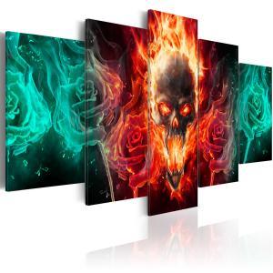 Ljuddämpande tavla - Dark fires - SilentSwede