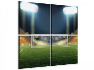 Ljudabsorberande 4 delad tavla - The Soccer Goal - SilentSwede