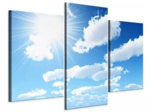 Ljudabsorberande modern 3 delad tavla - In The Sky - SilentSwede