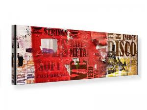 Ljudabsorberande panorama tavla - Music Text In Grunge Style - SilentSwede