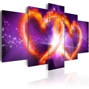 Ljuddämpande tavla - Flames of love - SilentSwede