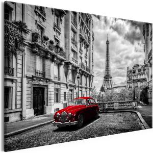Ljuddämpande & ljudabsorberande tavla - Car in Paris Red Wide - SilentSwede