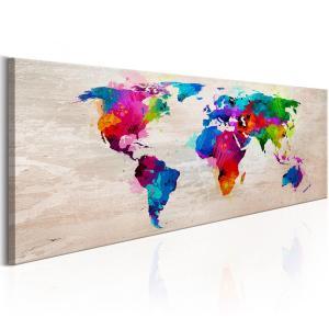 Ljuddämpande tavla - World Map: Finesse of Colours - SilentSwede