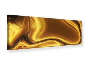 Ljudabsorberande panorama tavla - Abstract Liquid Gold - SilentSwede