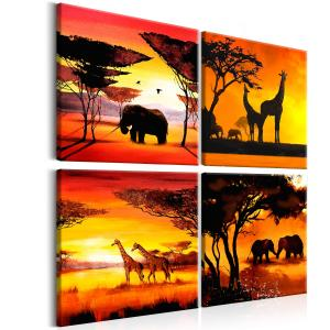 Ljuddämpande tavla - African Animals - SilentSwede