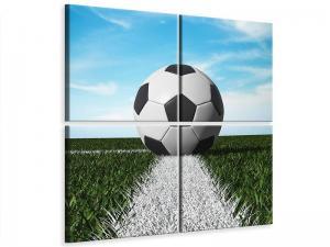 Ljudabsorberande 4 delad tavla - Soccer - SilentSwede