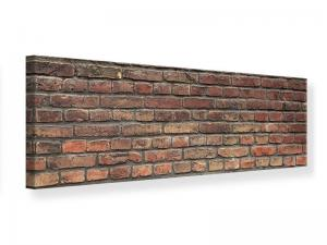 Ljudabsorberande panorama tavla - Brown Brick Wall - SilentSwede