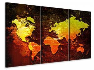 Ljuddämpande tavla - Retro World Map - SilentSwede