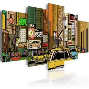 Ljuddämpande tavla - The streets of New York City in cartoons - SilentSwede