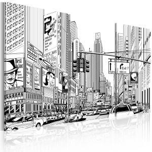 Ljuddämpande tavla - Black & white comic style - SilentSwede