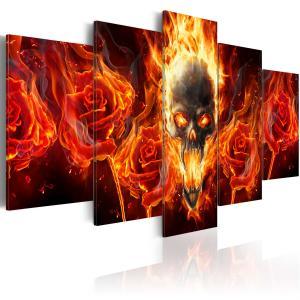 Ljuddämpande tavla - Fiery skull - SilentSwede