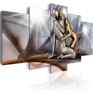 Ljuddämpande tavla - Gold couple - SilentSwede