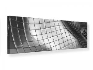 Ljudabsorberande panorama tavla - Abstract Steel - SilentSwede