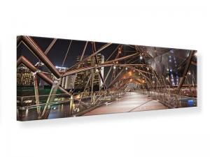 Ljudabsorberande panorama tavla - Bridge Lights - SilentSwede