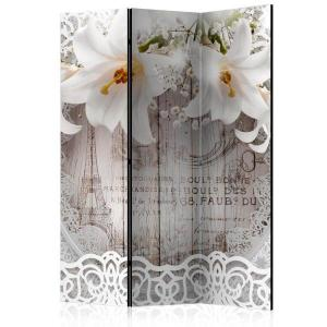 Rumsavdelare - Lilies and Quilted Background - SilentSwede