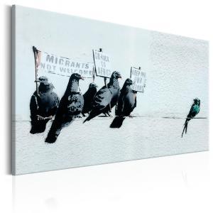 Ljuddämpande & ljudabsorberande tavla - Protesting Birds by Banksy - SilentSwede