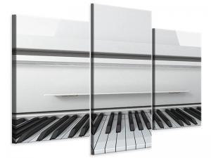 Ljudabsorberande modern 3 delad tavla - White Wings - SilentSwede