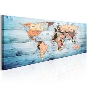 Ljuddämpande tavla - World Maps: Sapphire Travels - SilentSwede