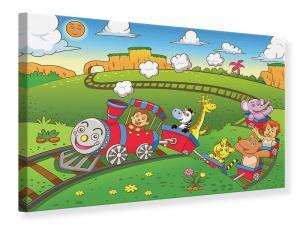 Ljuddämpande tavla - Train Animals - SilentSwede