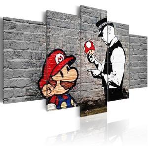 Ljuddämpande tavla - Super Mario Mushroom Cop - SilentSwede