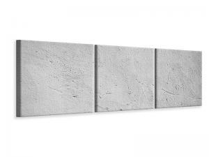 Ljudabsorberande panorama 3 delad tavla - Concrete - SilentSwede