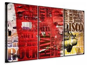 Ljuddämpande tavla - Music Text In Grunge Style - SilentSwede