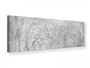 Ljudabsorberande panorama tavla - Wipe Technique In Gray - SilentSwede