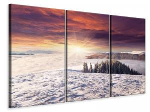 Ljuddämpande tavla - Sunrise Winter Landscape - SilentSwede