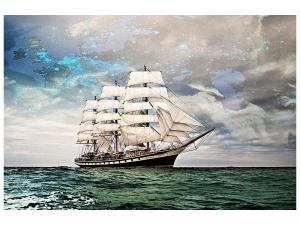 Ljudabsorberande tavla - Old Sailboat - SilentSwede