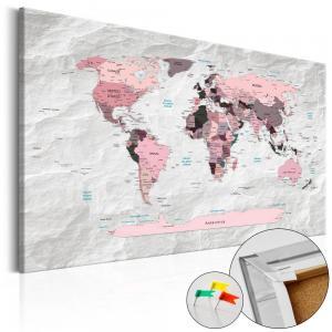 Ljuddämpande anslagstavla - Pink Continents - SilentSwede