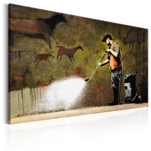 Ljuddämpande & ljudabsorberande tavla - Cave Painting by Banksy - SilentSwede