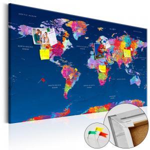 Ljuddämpande anslagstavla - World Map: Artistic Fantasy - SilentSwede
